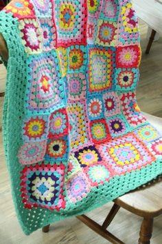 Vintage Sweethearts Crochet pattern by Sandra Paul Chevron Crochet Patterns, Crochet Cardigan Pattern, Crochet Blanket Patterns, Granny Square Quilt, Granny Square Crochet Pattern, Crochet Granny, Crochet Table Mat, Crochet Quilt, Crochet Lingerie