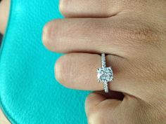 Please show me pics of cushion cut paved rings with NO halo. I'll start :) - Weddingbee | Page 3