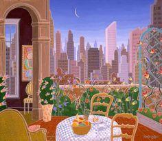 Beekman Place    Penthouse    Manhattan Suite    Silkscreen by Thomas McKnight