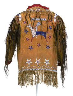 Detail of Man's coat, back view - Chaticks Si Chaticks (Pawnee) circa 1910