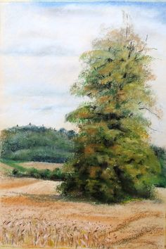 In the field Pastels, Fields, Country Roads, Landscape, Painting, Art, Craft Art, Paintings, Kunst