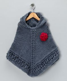 love this knit poncho for a little girl!