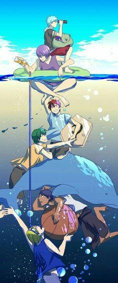 Kiseki no Sedai (Generation Of Miracles) - Kuroko no Basuke - Image - Zerochan Anime Image Board Kise Ryouta, Kagami Taiga, Kuroko Tetsuya, Ryota Kise, Midorima Shintarou, Akashi Seijuro, Manga Anime, Fanarts Anime, Anime Art