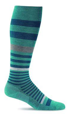 ba3ed41b78e04 Sockwell Women's Orbital Stripe Graduated Compression Socks ** See the  photo link even more details