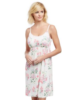 b39150236ce6c Motherhood Maternity Bump in the Night Nursing Nightgown- Floral Maternity  Gowns, Maternity Sleepwear,