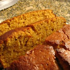SUPER Moist Pumpkin Bread Pinner said: I've used this recipe (adding in nuts and chocolate chips to taste) for two years now, I wont use another one. I've gotten so many compliments on my pumpkin bread. This is sweet, full of pumpkin flavor. Köstliche Desserts, Delicious Desserts, Dessert Recipes, Yummy Food, Pumpkin Recipes, Fall Recipes, Pumpkin Bred Recipe, Best Pumpkin Bread Recipe Ever, Moist Pumpkin Bread