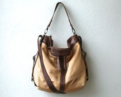 XL HOBO PACK   13 laptop pocket  'three in by roughandtumblebags, $328.00