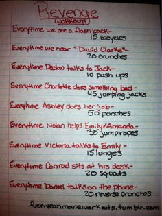 Revenge workout!  Want to see more workouts like this one? Follow us here.