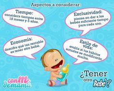#Mamás #Infografía ¿Cómo saber si estás lista para otro bebé?