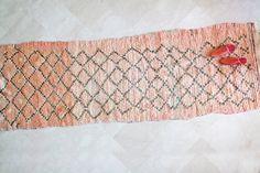 BOUCHEROUITE 9'x5' Moroccan Runner Rug. Mid Century door pinkrugco