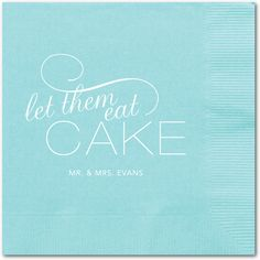 Sweet Suggestion Personalized Napkin (Tropical Blue Napkin)  Exclusively Designed by:  Baumbirdy