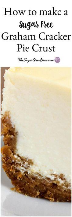 How to Make a Sugar Free Graham Cracker Pie Crust - Diabetic Recipes Sources Fluff Desserts, Keto Desserts, Diabetic Friendly Desserts, Diabetic Snacks, Healthy Snacks For Diabetics, Paleo Dessert, Dessert Recipes, Diabetic Recipes, Diabetic Cake