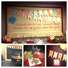 Our Teacher Appreciation 2013 decorations for the staff lounge.  Thank you for…