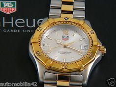 Superb TAG Heuer 2000 Fullsize Man Twotone 18K pl./SS with silver dial WK1120-0