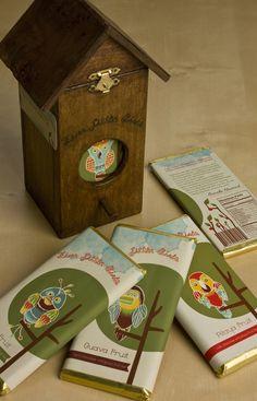 Five Little Birds Chocolate by Stephanie Hurtado, via Behance