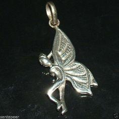 Mystische Licht Elfe Fee Amulett 925 Sterling Silber Elfen Feen Anhänger
