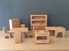 Vintage-Antonio-Vitali-Creative-Playthings-Kitchen-Dollhouse-Finland-Wood-Toys
