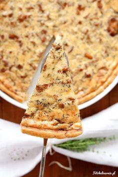 Chanterelles and Pecorino Cheese Tart.