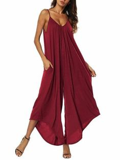 This women's jumpsuit is the definition of style and elegance. Grab this sexy overall for a formal dinner, for work or brunch.These unique style rompers are simple, and classy. They are light, comfortable, and perfect for many occasions. Women's fashion trendy. #trendywomen #womenfashion #jummer #overall #romperJumpsuits