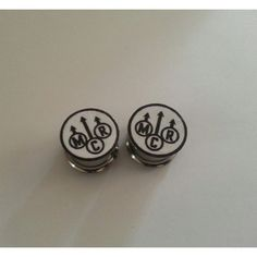 My Chemical Romance Plugs 2g 6mm - 1 inch 25mm ($15) ❤ liked on Polyvore featuring jewelry, earrings, plugs, gauges, gages, stainless steel jewellery and stainless steel jewelry