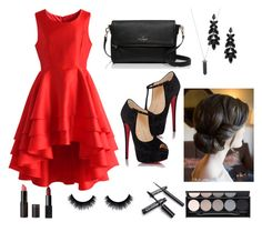 """""""Untitled #9"""" by eliza-hellen on Polyvore featuring beauty, Chicwish, Christian Louboutin, Karen Kane, Kate Spade, Witchery and NARS Cosmetics"""