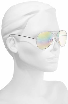 Main Image - BP. Rainbow Aviator Sunglasses