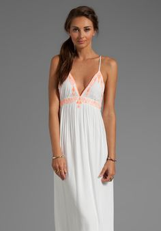 DOLCE VITA Zorana Garbo Embroidery Dress in Coral/White at Revolve Clothing - Free Shipping!