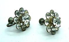 Screw back earrings | #Women's  #Fashion Jewelry Rhinestone earrings  🔵💙🌿   Etsy Art Lover Etsy_Team_LOVE  @etsyER