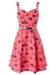 London Conversational Print Dress from London Love Letters by Oasis