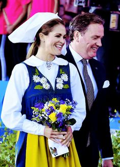 Princess Madeleine and Christopher O'Neill were all smiles as they departed the Swedish National Day Concert at Skansen on June 6th, 2017.
