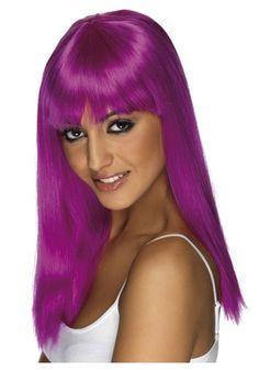 Glamourama Neon Purple Wig ($14.99) HalloweenCostumes.com