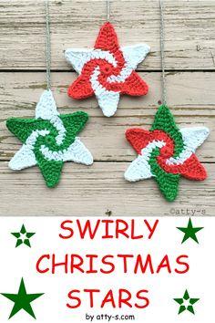 Crochet Christmas Decorations, Crochet Christmas Ornaments, Christmas Star, Christmas Knitting, Christmas Crafts, Holiday Crochet Patterns, Crochet Snowflake Pattern, Crochet Snowflakes, Crochet Flowers