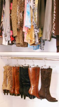 Great way to store boots!
