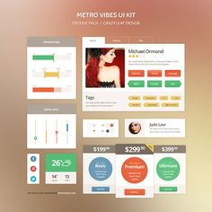 Metro Vibes - The Perfect Metro Style UI Kit - CrazyLeaf Design Blog