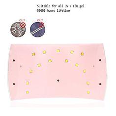 Abody SUN9C 24W LED Sèche-ongles UV Lampe Séchoir à Ongle Portable Lumière Blanche Convient à tous les Gel pour Main et Pied