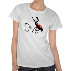 Shop idive T-Shirt created by Personalize it with photos & text or purchase as is! Gifts For Scuba Divers, Wardrobe Staples, Fitness Models, Cool Designs, Female, Casual, Sleeves, Fabric, Mens Tops