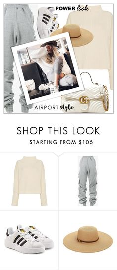 """""""Power Look"""" by shoaleh-nia ❤ liked on Polyvore featuring Simon Miller, Y/Project, adidas Originals, Melissa Odabash and Gucci"""