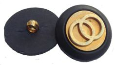 GOLD BUTTONS X 10 BUTTONS 25mm, Sewing,