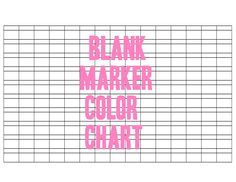 Where can you find a chart with all of the colors Sharpies are made in?