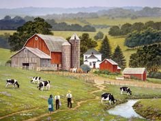 Short Cut  JohnSloaneArt.com - John Sloane - Gallery - Amish