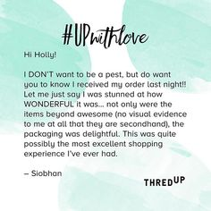 *Evidence that polka dot magic is real*  #UPwithlove #secondhandfirst #realemailsrealpeople . . . . . . . . . #testimonial #reviews…