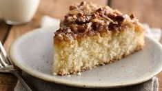 Bisquick Velvet Crumb Cake with Coconut Topping. This versatile cake, a long-standing favorite among users of Bisquick® mix, can be served for dessert or breakfast. Original Bisquick Coffee Cake Recipe, Cinnamon Streusel Coffee Cake, Apple Pie Cake, Apple Cakes, Cake Recipes, Dessert Recipes, Sweet Recipes, Bisquick Recipes, Food Cakes