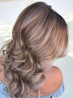 Blonde Balayage with lilac tones