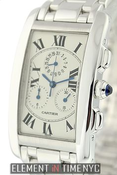 Cartier Tank Americaine Chronoflex 29mm iN 18k White Gold With A Silver Roman Dial (W26033L1)