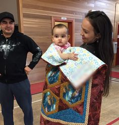 Danika was wrapped in a blanket today, to traditionally welcome her into the Tk'emlups te Secwepemc community. Lovely day for a celebration. Lifestyle Blog, Lily Pulitzer, Blanket, Celebrities, Shopping, Decor, Fashion, Moda, Blankets