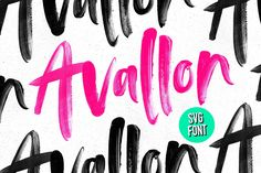 Avallon OpenSVG Font • 30% Off! by Sam Parrett on @creativemarket