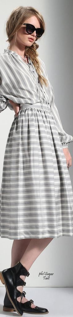 Fun and grey with feminine style perfect for a best of spring 2016 fashion design Temperley London Resort 2016