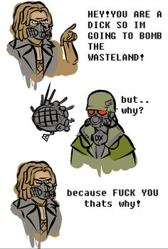 25 Fallout Memes New Vegas Fallout Quotes, Fallout Funny, Fallout Fan Art, Fallout New Vegas, Vegas Memes, Fallout Comics, Ncr Ranger, Nuclear Winter, Video Game Logic