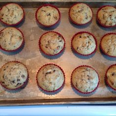 These are the only banana muffins I make now. I add chocolate chips to my batter and triple the recipe. These freeze great. I got this recipe from an old (1980s) Canandian cookbook called Muffin Mania. (Prep time is a guess.)