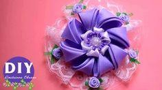 kanzashi flower tutorial - YouTube